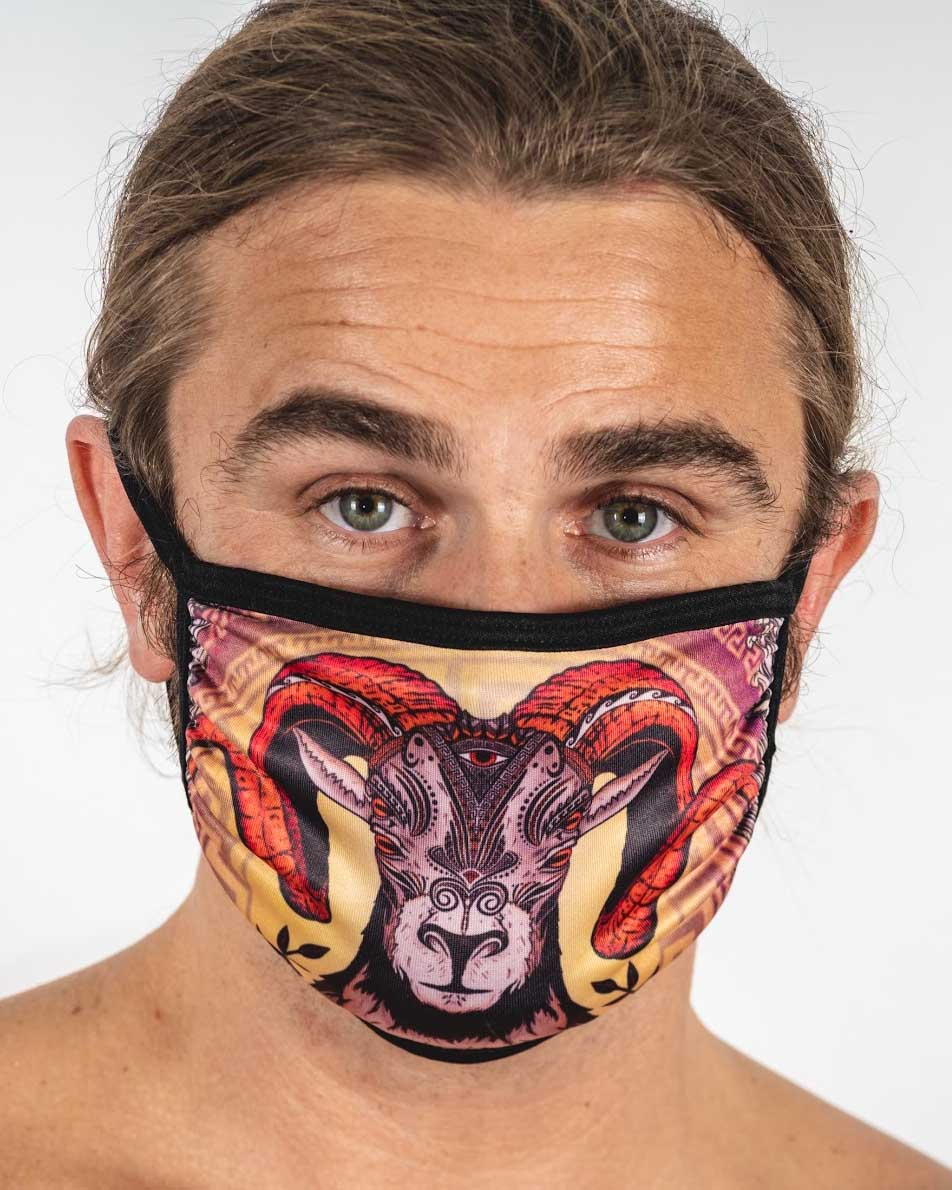 Aries Ram Face Mask