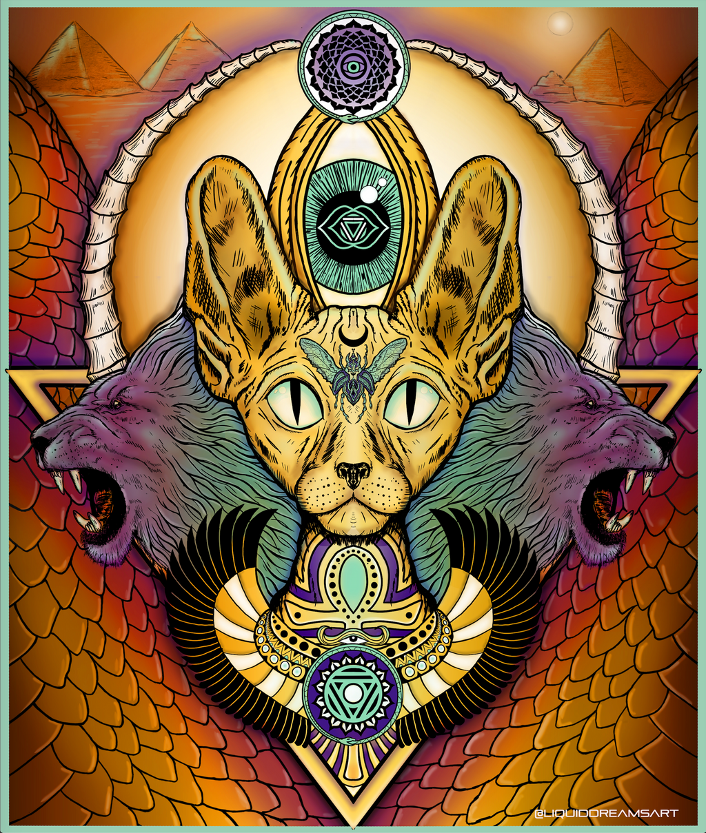 Sphinx Cat Tapestry