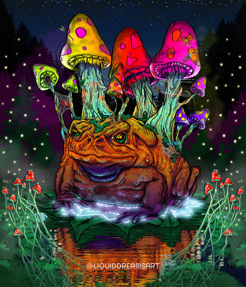 Grumble Toad Tapestry