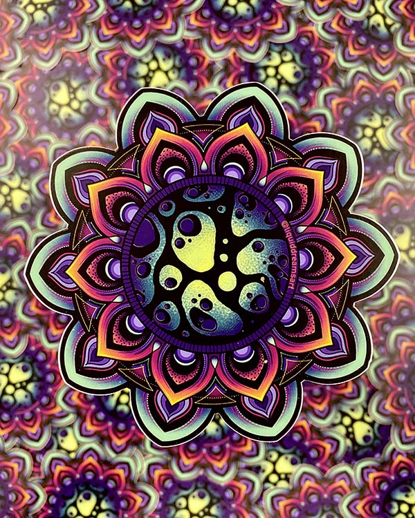 "6"" Twilight Mandala Sticker!"