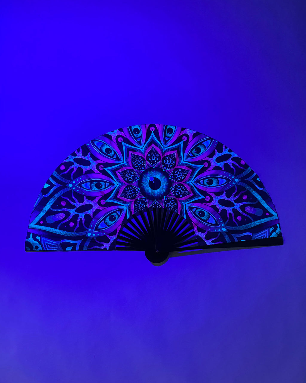 LARGE Alien Mandala Fan