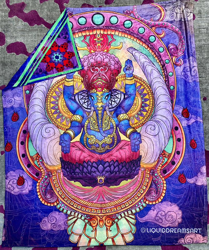Ganesha and Kali Double Art Print Blanket