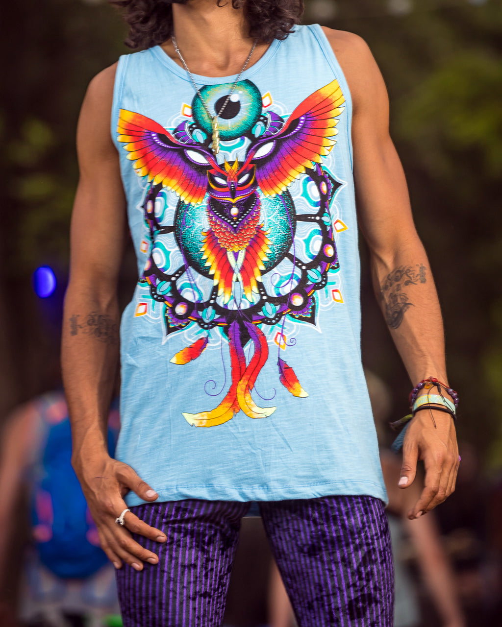 Light Blue Pheonix Men's Tank