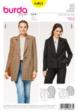 Symønster Burda 6463 - Jakke - Dame - Business Casual | Bilde 3