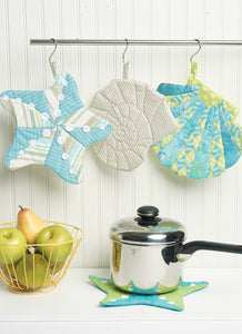 Symønster Kwik Sew 0236 - Seashell-Themed Potholders with Hanging Loop | Bilde 1