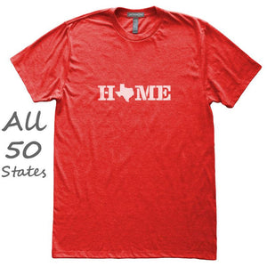 Home State Love T-Shirt, Heather Red, Fitted, Unisex, Hometown T Shirts - Item 140150-HRD