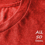 Where I Belong State T-Shirt, Heather Red, Fitted, Unisex, Love Home Born In Birthplace T Shirts - Item 140154-HRD