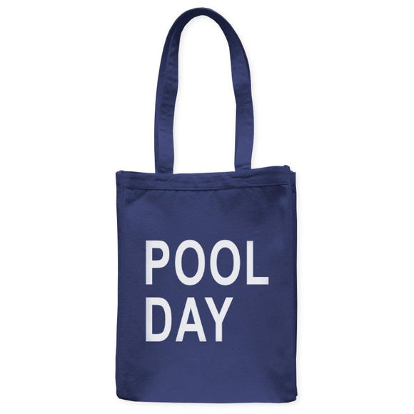Pool Day Swim Tote Bag, Navy Blue, 10.5