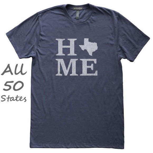 Home State T-Shirt, Heather Navy, Fitted, Unisex, Hometown Love T Shirts - Item 140165-HNV