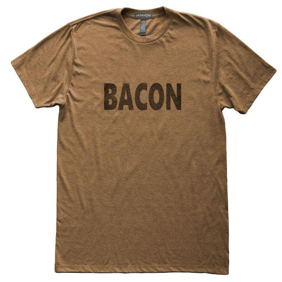 Bacon Lover T-Shirt, Heather Brown, Fitted, Unisex, Meat Home Chef Cook Foodie T Shirts - Item 140175-HBR