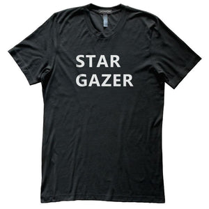 Stargazer Astronomy T-Shirt, Black, Fitted, Unisex, Night Sky Science T Shirts - Item 140177-BLK