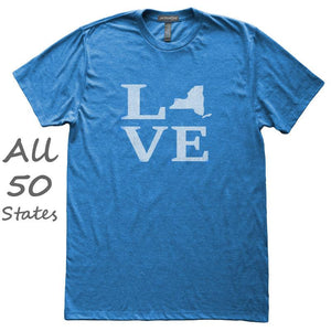 Love State T-Shirt, Heather Royal, Fitted, Hometown Home T Shirts - Item 140179-HRL