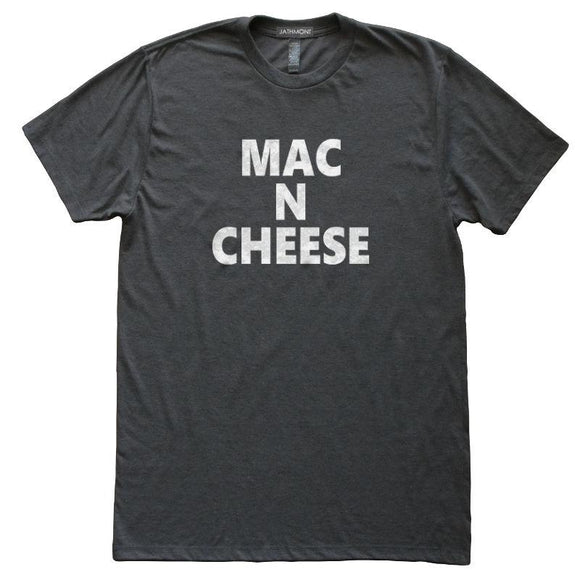 Mac N Cheese T-Shirt, Heather Black, Fitted, Unisex, Home Chef Cook Foodie Southern Charm T Shirts - Item 140180-HBK