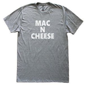 Mac N Cheese T-Shirt, Heather Grey, Fitted, Unisex, Home Chef Cook Foodie Southern Charm T Shirts - Item 140180-HGY