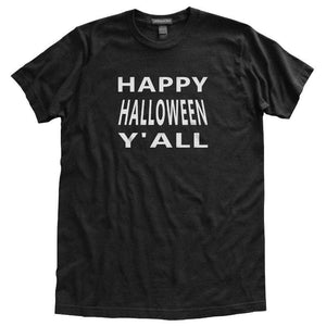 Happy Halloween Y'All T-Shirt, Black, Fitted, Unisex, Southern Charm Spooky Halloween T Shirts - Item 140201-BLK