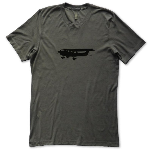 General Aviation High Wing Airplane T-Shirt, Mens/Womens, Dark Grey, Fitted, Flight Science Gifts T Shirts - Item 140220-DGY