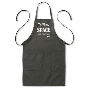 "I Need My Space In The Kitchen Astronomy Apron, Mens/Womens, Black, 2 Pockets, 20""x30"", Adjustable, Aprons - Item 140225-BLK"