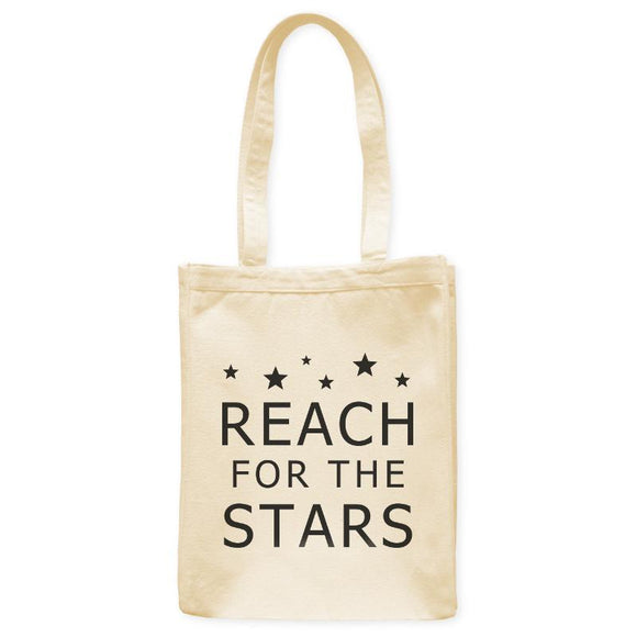 Reach For The Stars Astronomy Inspiration Tote Bag, Natural, 10.5
