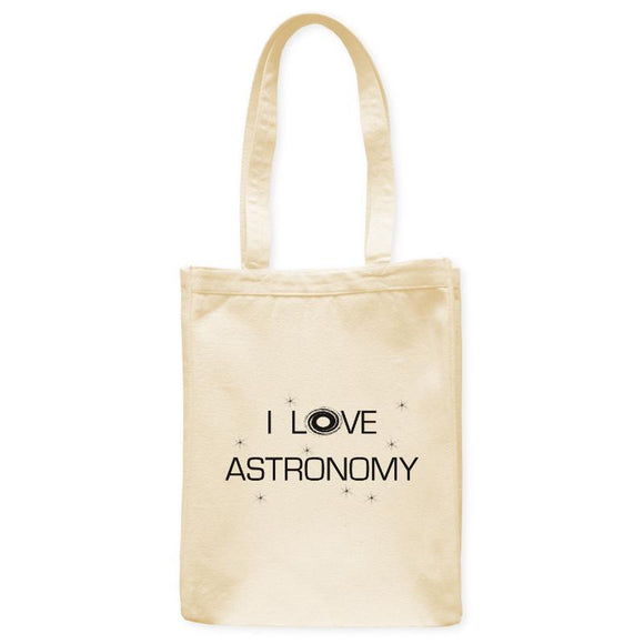 I Love Astronomy Galaxy Space Tote Bag, Natural, 10.5