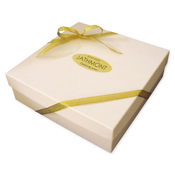 Gift Wrapping Service: White Gift Box with Gold Ribbon - Item GIFT WRAP-BOX-WHT