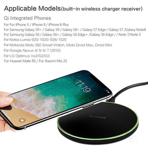10000mAh Universal Portable Qi Wireless Power Bank