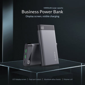 10000mAh Power Bank Dual USB 5V2A with Display Screen