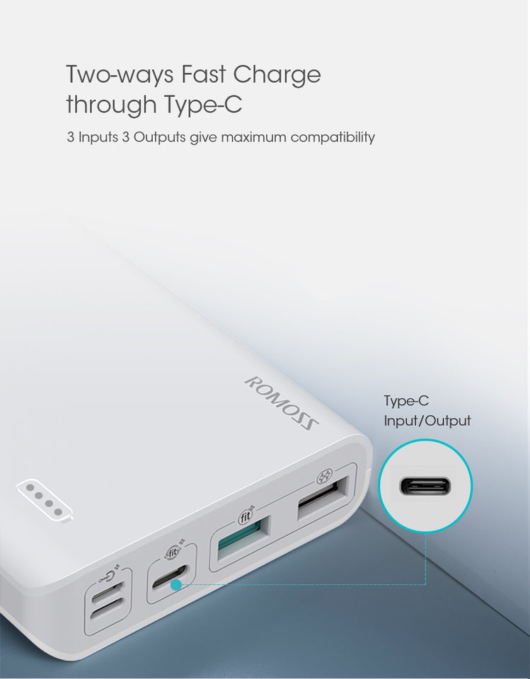 20000mAh Power Bank With QC3.0 Two-way Fast Charging