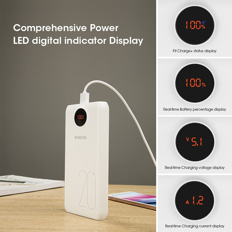 20000mAh Portable Power Bank Charger External Battery