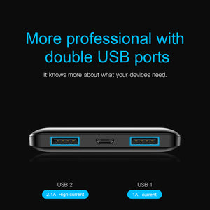 10000mAh Mini Dual USB Portable Charging Power Bank