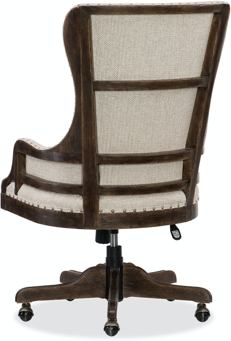 Hooker Furniture Home Office Roslyn County Deconstructed Tilt Swivel Chair
