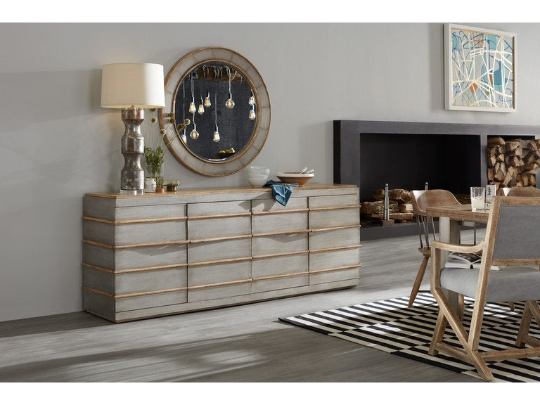 Hooker Furniture Home Entertainment Urban Elevation Metal Entertainment Credenza