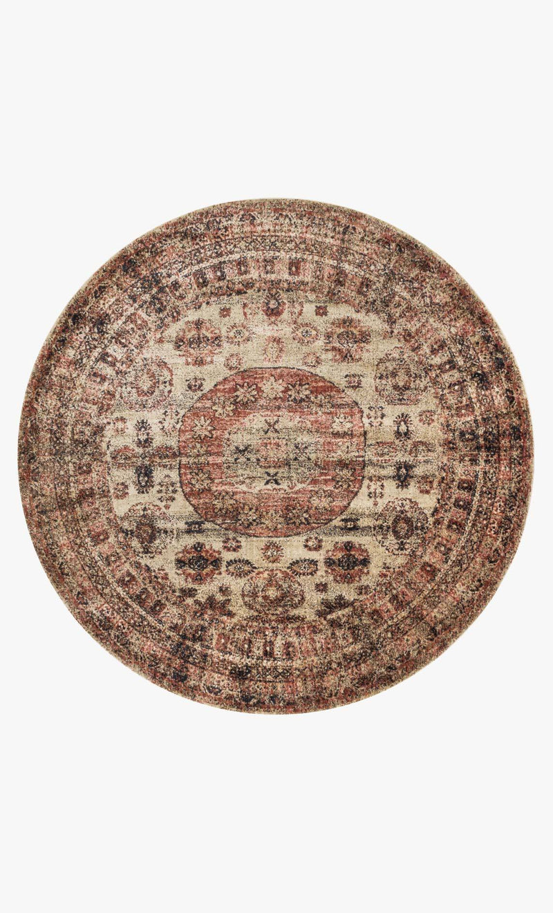 AF-03 CHAMPAGNE/MULTI - Loloi Rugs - Round