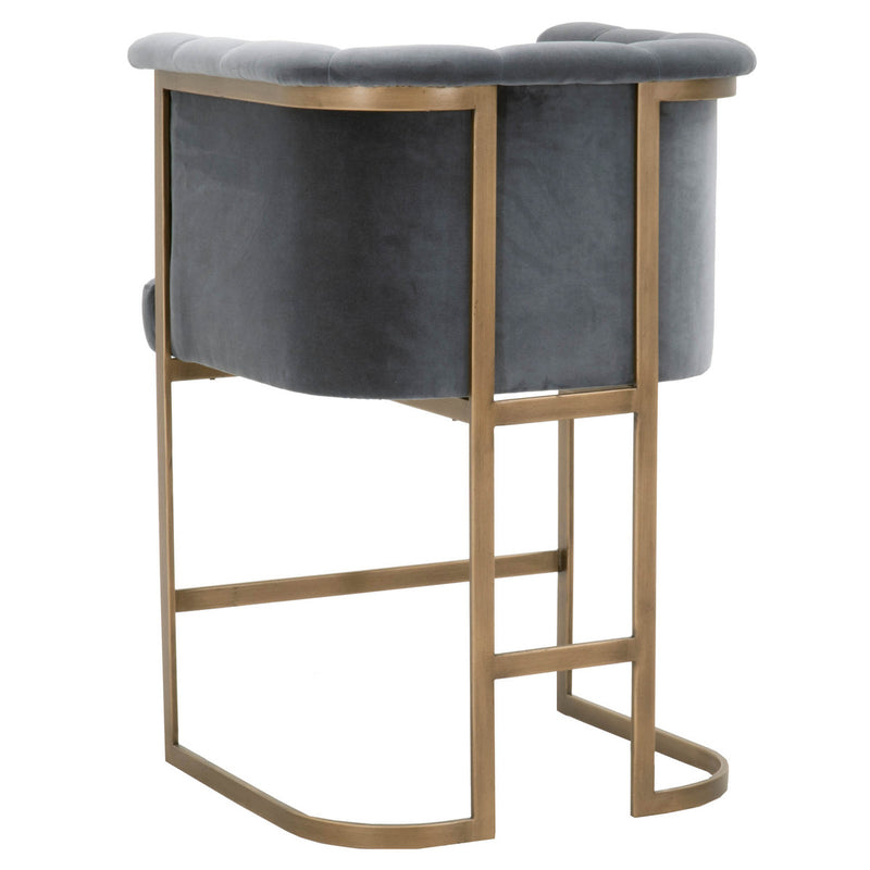 Bella Counter Stool - Blush Gray Velvet