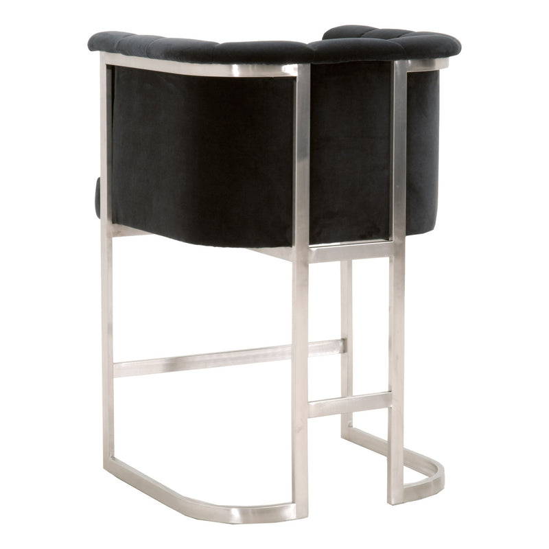 Bella Counter Stool - Coal Gray Velvet