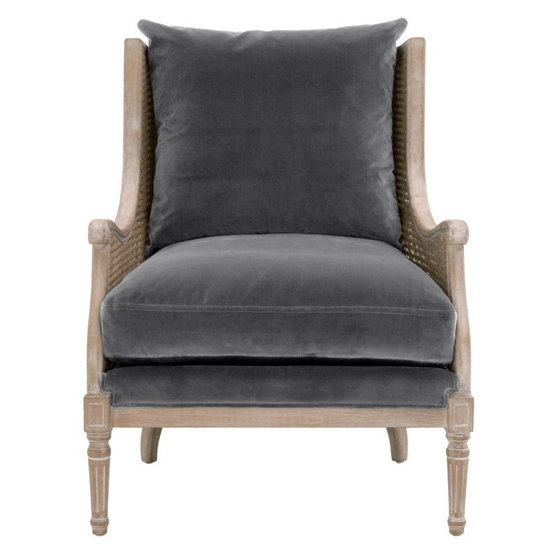 Carlisle Club Chair - Dove Velvet