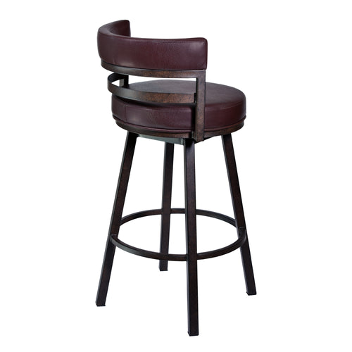 Madrid Barstool in Auburn Bay finish with Brown Pu upholstery