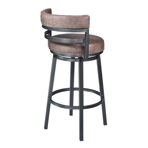 Madrid Barstool in Mineral finish with Bandero Tobacco upholstery