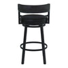 Madrid Counter Height Metal Swivel Barstool in Ford Black Pu and Black Finish