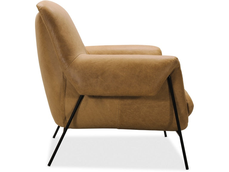 Hooker Furniture Living Room Ambroise Metal Frame Club Chair