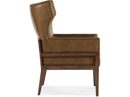 Hooker Furniture Living Room Burrell Leather Accent Chair