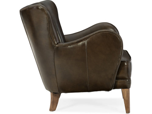Hooker Furniture Living Room Treasure Leather Club Chair
