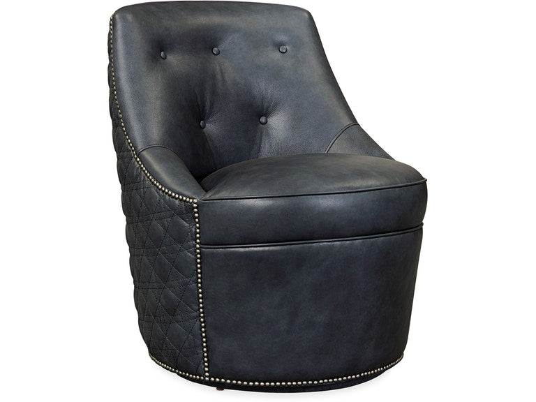 Hooker Furniture Living Room Segura Leather Swivel Accent Chair