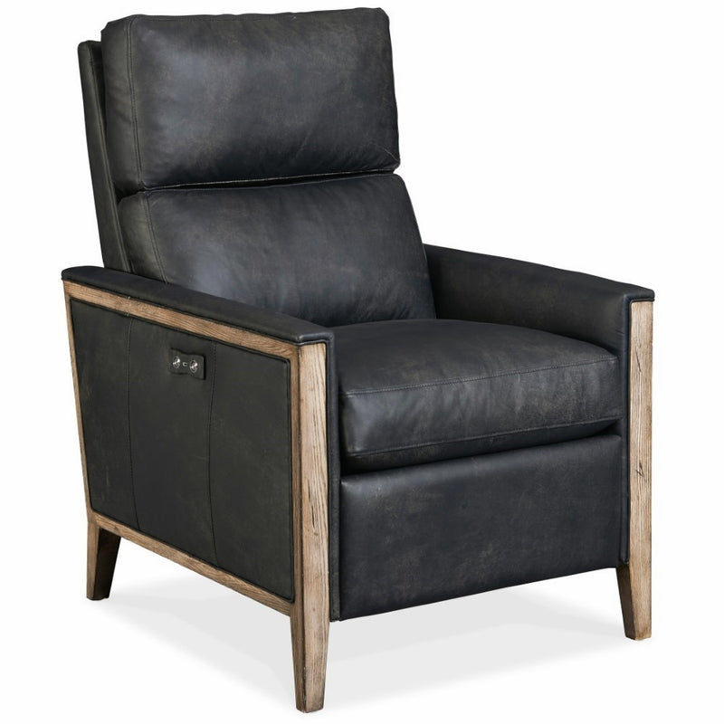 Hooker Furniture Living Room Karter Wood Accent Power Recliner