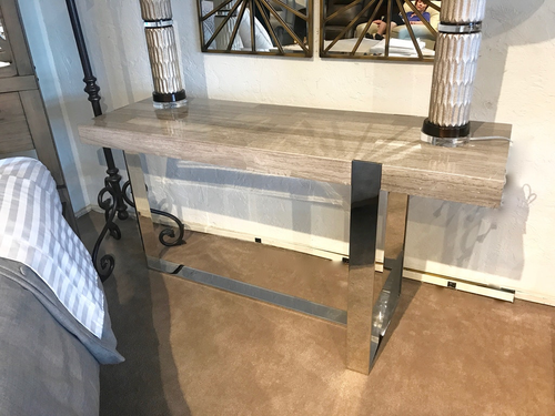 Dining Room Marble Console Table - Curated By Norwood