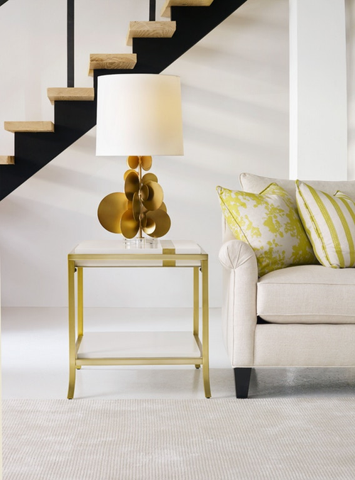 Gold Leaf Accent Table - Curated By Norwood