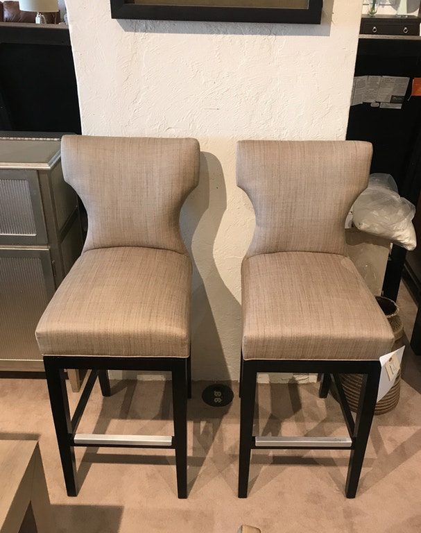 Pair of Memory Swivel Bar Stools - Curated By Norwood