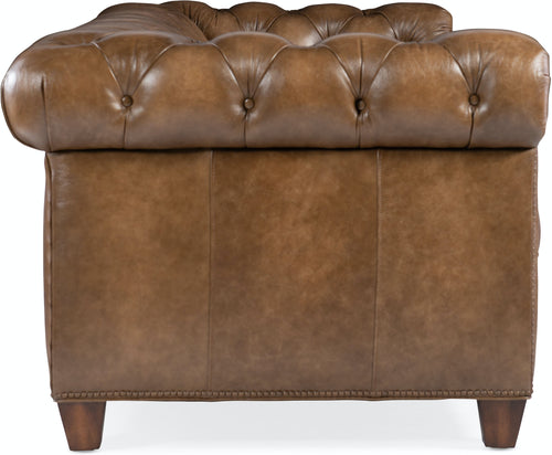 Hooker Furniture Living Room Chester Tufted Stationary Sofa