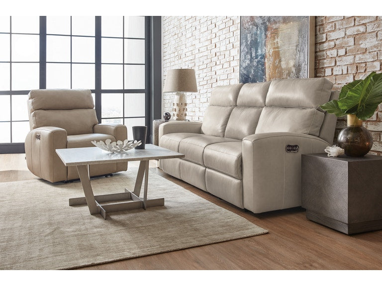 Hooker Furniture Living Room Mowry Power Recliner Sofa w/ Power Headrest