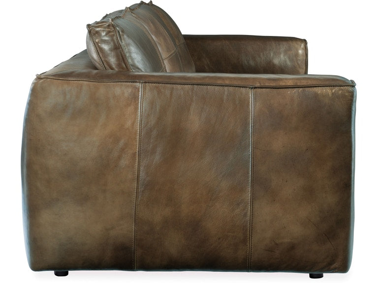 Hooker Furniture Living Room Solace Leather Stationary Sofa