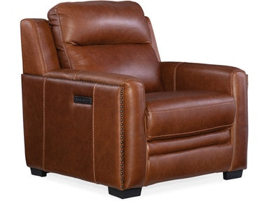 Hooker Furniture Living Room Lincoln Power Recliner w/ Power Headrest & Lumbar Recline